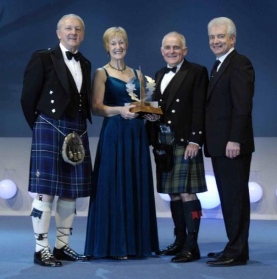 Photograph of B&B Owner Joan Campbell Celebrates Silver Thistle Success