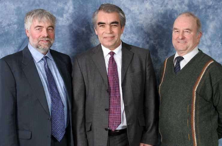 Photograph of Three New Board Members For CASE