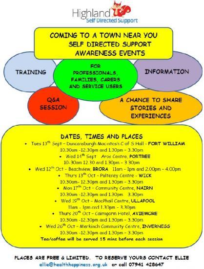 Photograph of Self Directed Support Information Days