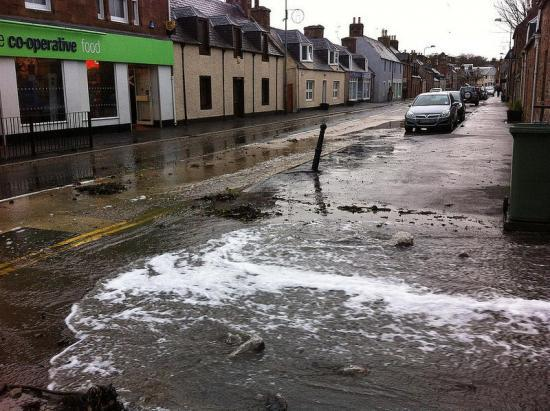Photograph of Golspie And River Thurso Flood Protection Studies Underway