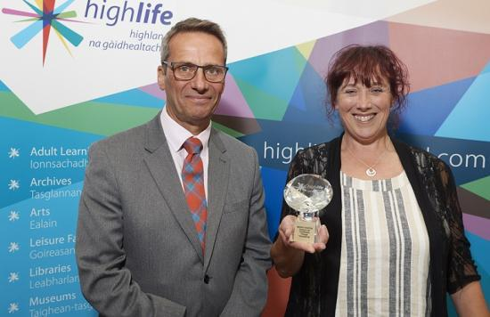 Photograph of Highlife Highland Volunteer Awards - Morag Martin, Helmsdale